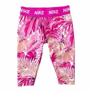 Nike pink Capri leggings